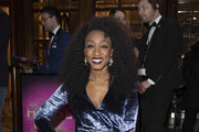 "Beverley Knight attends the premiere of ""Snow White"" at London Palladium on December 12, 2018 in London, England."