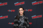 Jennifer Connelly attend the Snowpiercer press line during New York Comic Con at Hammerstein Ballroom on October 05, 2019 in New York City.