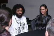 Daveed Diggs and Jennifer Connelly attend the Snowpiercer press line during New York Comic Con at Hammerstein Ballroom on October 05, 2019 in New York City.