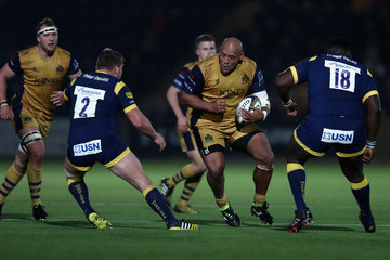 Soane Tonga Worcester Warriors v Bristol Rugby - Anglo-Welsh Cup