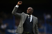 Usain Bolt of Soccer Aid World XI walks on the pitch prior to the Soccer Aid for UNICEF 2019 match between England and the Soccer Aid World XI at Stamford Bridge on June 16, 2019 in London, England.
