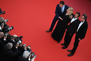 """Clovis Cornillac, director Andrea Bescond,Eric Metayer and a guesT attend the screening of """"Solo: A Star Wars Story"""" during the 71st annual Cannes Film Festival at Palais des Festivals on May 15, 2018 in Cannes, France."""