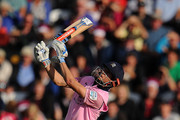 John Simpson of Middlesex bats during the Vitality Blast match between Somerset and Middlesex at the Cooper Associates County Ground on July 29, 2018 in Taunton, England.