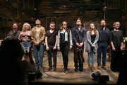 "(L-R) Actors Andy Taylor, Erin Dilly, Bob Stillman, Adam Cochran, Kate Baldwin, Eric William Morris, Ephie Aardema, Drew McVety and Kacie Sheik take a bow during curtain call at the opening night of ""Songbird"" at 59E59 Theaters on October 28, 2015 in New York City."