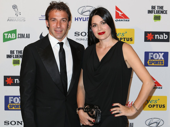 Alessandro Del Piero with fun, Wife Sonia Amoruso
