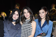 Langley Fox Hemingway, Gala Gordon and Amber Anderson attend the Sonia Rykiel show as part of the Paris Fashion Week Womenswear Fall/Winter 2018/2019 on March 3, 2018 in Paris, France.