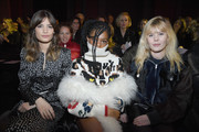 Alma Jodorowsky, Selah Marley and Lou Lesage attend the Sonia Rykiel show as part of the Paris Fashion Week Womenswear Fall/Winter 2018/2019 on March 3, 2018 in Paris, France.