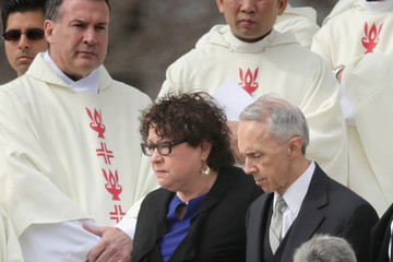Sonia Sotomayor Funeral for Supreme Court Justice Scalia Antonin Scalia Held in Washington, D.C.