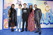 "(L-R) Natasha Rothwell, Ben Schwartz, Jim Carrey, Tika Sumpter and Lee Majdoub attend a ""Sonic The Hedgehog"" Special Screening at the Regency Village Theatre on February 12, 2020 in Westwood, California."