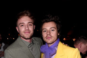 Roman Kemp and Harry Styles attend the Sony BRITs after-party at The Standard on February 18, 2020 in London, England.