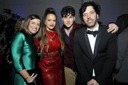 (L-R) Columbia EVP & GM Jenifer Mallory, Rosalía, Ezra Koenig of Vampire Weekend, and Columbia Chairman & CEO Ron Perry attend the Sony Music Entertainment 2020 Post-Grammy Reception at NeueHouse Hollywood on January 26, 2020 in Los Angeles, California.