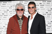 Pedro Almodovar and Antonio Banderas at the Sony Pictures Classics TIFF Celebration Dinner 2019 at Morton's The Steakhouse on September 07, 2019 in Toronto, Canada.