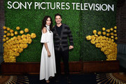 "Actors Abigail Spencer (L) and Matt Lanter, stars of the new Sony Pictures Television series ""Timeless"", attend the Sony Pictures Television LA Screenings Party on May 24, 2017 in Los Angeles, California."