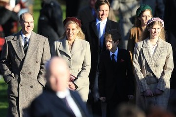 Sophie Earl Of Wessex The Royal Family Attend Church On Christmas Day