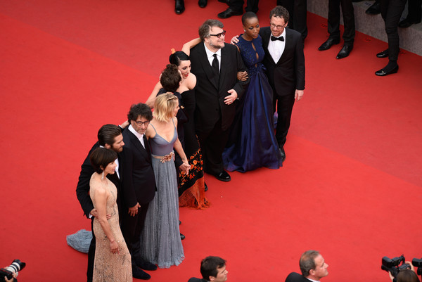 "Closing Ceremony And ""Le Glace Et Le Ciel"" Premiere - The 68th Annual Cannes Film Festival [le glace et le ciel,red carpet,carpet,red,flooring,event,premiere,formal wear,performance,premiere,sophie marceau,joel coen,ethan coen,rokia traore,guillermo del toro,the 68th annual cannes film festival,closing ceremony,closing ceremony]"