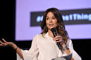 """Brooke Burke speaks onstage during SoulPancake's """"Four Conversations about One Thing"""" at Hammer Museum on May 29, 2019 in Los Angeles, California."""