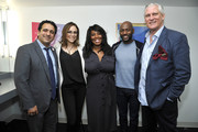 """(L-R) Dr. Habib Sadeghi, Shira Lazar, Denise Jackson, Romany Malco, and David Bloom attend SoulPancake's """"Four Conversations about One Thing"""" at Hammer Museum on May 29, 2019 in Los Angeles, California."""