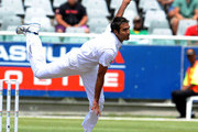 Imran Tahir of South Africa in action during day 2 of the 1st Sunfoil Series Test match between South Africa and Australia at Sahara Park Newlands on November 10, 2011 in Cape Town, South Africa.