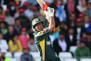 Shoaib Malik of Pakistan hits out during the ICC World Twenty20 Semi Final between Pakistan and South Africa at Trent Bridge on June 18, 2009 in Nottingham, England.