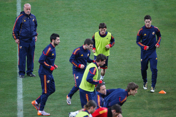 Spain Training - 2010 FIFA World Cup Vicente del Bosque Head Coach of Spain