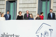 Congress President Ana Pastor, Spanish Prime Minister Pedro Sanchez, former Queen of Spain Sofia, former King of Spain Juan Carlos I, Spain's Princess Leonor and Spain's Princess Sofia, Spain's Queen Letizia and Spain's King Felipe VI attend a celebration marking 40 years of democracy in Spain at the Spanish Congress on December 6, 2018 in Madrid, Spain. Constitution Day marks 40 years of democracy in Spain following four decades of dictatorial rule under Francisco Franco.