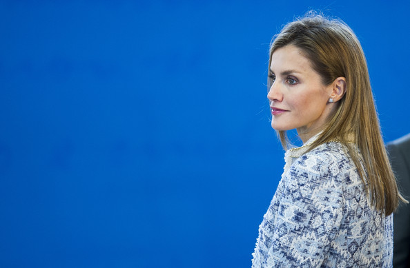 Queen Letizia of Spain Attend the Opening of the School Courses on September 16, 2014 in Orense, Spain.