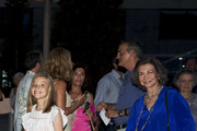 Queen Sofia and Princess Sofia of Spain attend Ara Malikian concert at Port Adriano on August 1, 2018 in Palma de Mallorca, Spain.