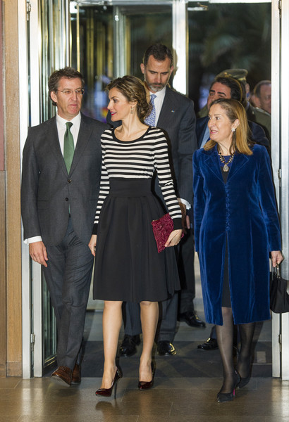 King Felipe VI of Spain and Queen Letizia of Spain attend the inauguration of the 'The First Picasso' exhibition at the 'Museo de Belas Artes A Coruna' on February 19, 2015 in A Coruna, Spain.