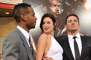 "Actors Marlon Wayans, Rachel Nichols, and Channing Tatum arrive at the special screening of ""G.I. Joe: The Rise Of Cobra"" held at Grauman's Chinese Theatre on August 6, 2009 in Los Angeles, California."