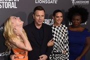 """(From left) Actors Dakota Fanning, Ewan McGregor, Jennifer Connelly and Uzo Aduba attend a special screening of Lionsgate's """"American Pastoral,"""" October 13, 2016 at the Samuel Goldwyn Theater in Beverly Hills, California. / AFP / Robyn Beck"""