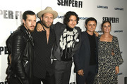 """HOLLYWOOD, CALIFORNIA - SEPTEMBER 24 Beau Knapp, Jai Courtney,  Nat Wolff, Arturo Castro, Leighton Meester attend a Special Screening Of Lionsgate's """"Semper Fi"""" at ArcLight Hollywood on September 24, 2019 in Hollywood, California."""