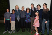 Actors Xolo Mariduena, Tyree Brown, Monica Potter, Erika Christensen, Mae Whitman, Sam Jaeger, Savanah Paige Rae, Max Burkholder and Miles Heizer attend a special screening of NBC's 'Parenthood' benefitting Five Acres on September 26, 2013 in San Marino, California.