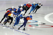 Sven Kramer of Netherlands leads during the Men's Speed Skating Mass Start Final on day 15 of the PyeongChang 2018 Winter Olympic Games at Gangneung Oval on February 24, 2018 in Gangneung, South Korea.