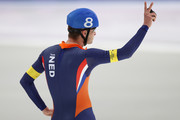 Sven Kramer of Netherlands reacts after the Men's Speed Skating Mass Start Final on day 15 of the PyeongChang 2018 Winter Olympic Games at Gangneung Oval on February 24, 2018 in Gangneung, South Korea.