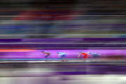 Sven Kramer of the Netherlands, Sverre Lunde Pedersen of Norway, Livio Wenger of Switzerland compete during the Men's Speed Skating Mass Start Semifinal 2 on day 15 of the PyeongChang 2018 Winter Olympic Games at Gangneung Oval on February 24, 2018 in Gangneung, South Korea.