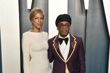 Spike Lee Tonya Lewis Lee 2020 Vanity Fair Oscar Party Hosted By Radhika Jones - Arrivals