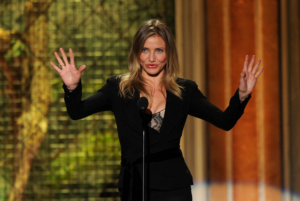 "Actress Cameron Diaz presents the Funniest M.F. award onstage during Spike TV's 5th annual 2011 ""Guys Choice"" Awards at Sony Pictures Studios on June 4, 2011 in Culver City, California."