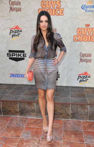 "Actress Mila Kunis arrives at Spike TV's 5th annual 2011 ""Guys Choice"" Awards at Sony Pictures Studios on June 4, 2011 in Culver City, California."