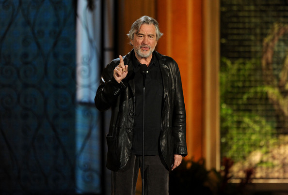 "Actor Robert De Niro presents the Guy Movie Hall of Fame award onstage during Spike TV's 5th annual 2011 ""Guys Choice"" Awards at Sony Pictures Studios on June 4, 2011 in Culver City, California."