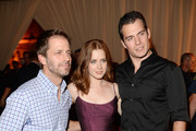 (L-R) Director Zack Snyder, actors Amy Adams and  Henry Cavill attend Spike TV's Guys Choice 2013 at Sony Pictures Studios on June 8, 2013 in Culver City, California.