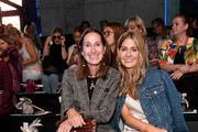 Annette Weber and a guest attend the Sportalm Kitzbuehel show during the Berlin Fashion Week Spring/Summer 2019 at ewerk on July 4, 2018 in Berlin, Germany.