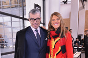 Giorgio Guidotti and Anna Dello Russo attend the Sportmax Show as part of Milan Fashion Week Womenswear Autumn/Winter 2014 on February 21, 2014 in Milan, Italy.