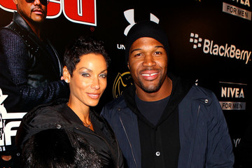 Michael Strahan Nicole Murphy Sports Illustrated And Bacardi Present The Black Eyed Peas Super Bowl Party
