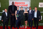 Jamie Salter, Shaquille O'Neal, Professional Soccer Player Megan Rapinoe, Noah Schnapp, Sports Illustrated Kids SportsKid of the Year, Ally Sentnor, Warrick Dunn and Corey Salter attend the Sports Illustrated Sportsperson Of The Year 2019 at The Ziegfeld Ballroom on December 09, 2019 in New York City.