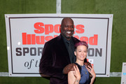Shaquille O'Neal and Megan Rapinoe attend the Sports Illustrated Sportsperson Of The Year 2019 at The Ziegfeld Ballroom on December 09, 2019 in New York City.
