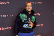 Timbaland arrives at Spotify's 2nd Annual Secret Genius Awards at The Theatre at Ace Hotel on November 16, 2018 in Los Angeles, California.
