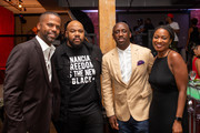 A. J. Calloway, Isaac Hayes III, Chaka Zulu, and guest attend Spotify honors Jermaine Dupri and Dallas Austin during dinner at ONE Music Fest on September 05, 2019 in Atlanta, Georgia.