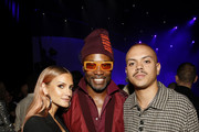 "(L-R) Ashlee Simpson, Billy Porter, and Evan Ross attend Spotify Hosts ""Best New Artist"" Party at The Lot Studios on January 23, 2020 in Los Angeles, California."