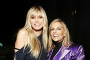 "(L-R) Heidi Klum and Chief Content Officer of Spotify, Dawn Ostroff attend Spotify Hosts ""Best New Artist"" Party at The Lot Studios on January 23, 2020 in Los Angeles, California."