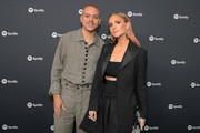 "(L-R) Evan Ross and Ashlee Simpson attend Spotify Hosts ""Best New Artist"" Party at The Lot Studios on January 23, 2020 in Los Angeles, California."